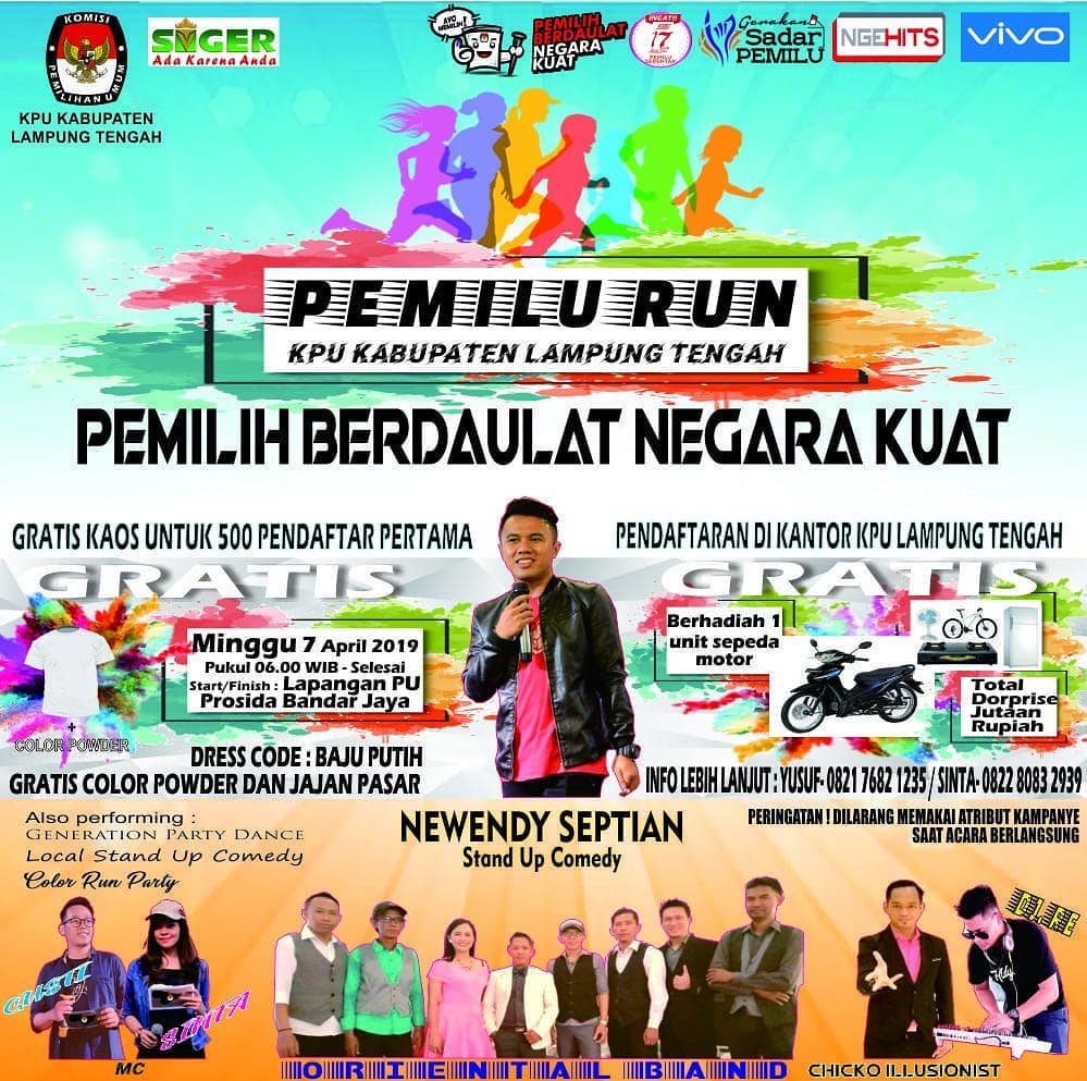 Pemilu Run - KPU Lampung Tengah • 2019