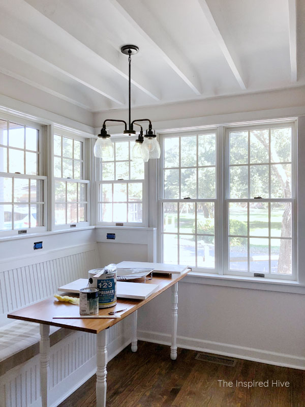 Painting the window trim white