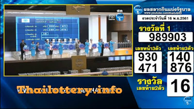 Thailand Lottery live results 16 November 2018 Saudi Arabia on TV