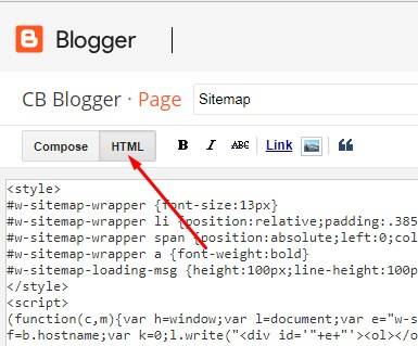 Klik Mode HTML
