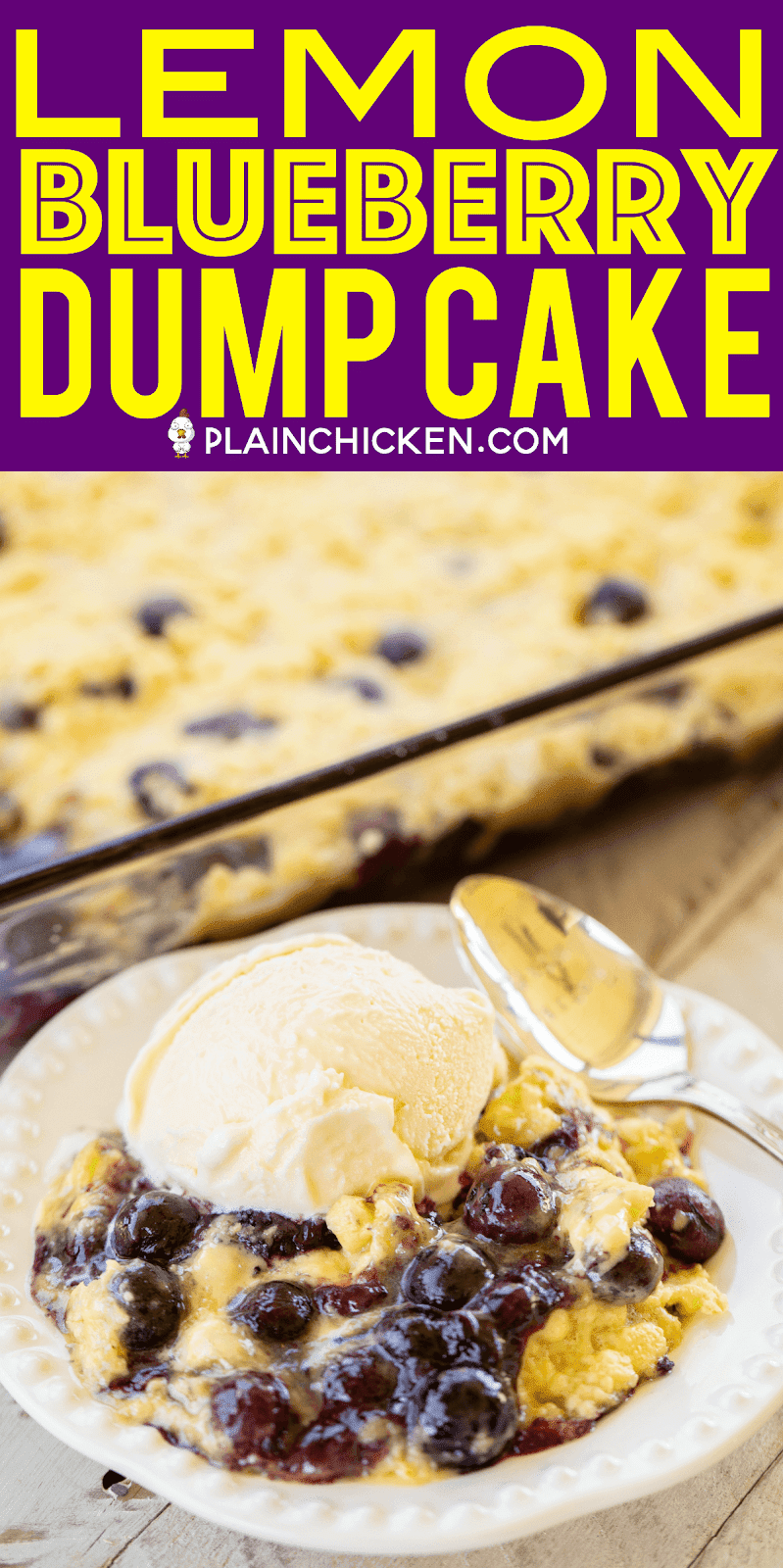 Blueberry Cake Mix And Butter Dump Cake Recipe