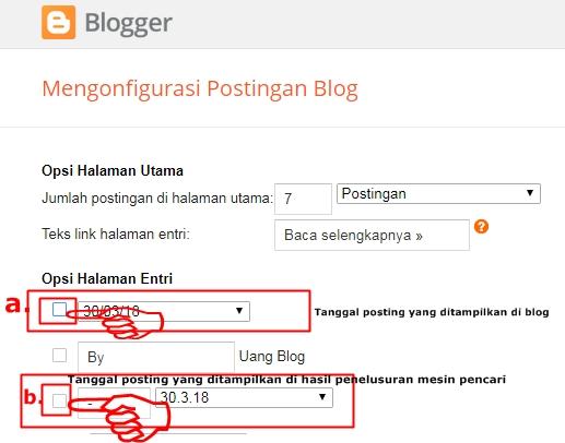 Cara Gampang Menghilangkan Tanggal Postingan Artikel di Blog dan Mesin Pencari