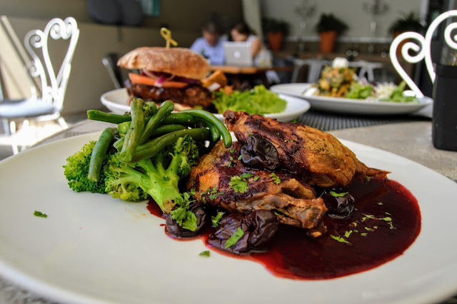 Duck with 5 spiced cherry sauce