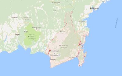 Peta Wilayah Provinsi Kalimantan Selatan