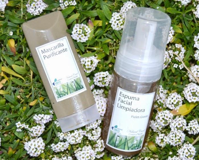 mascarilla purificante y espuma facial limpiadora