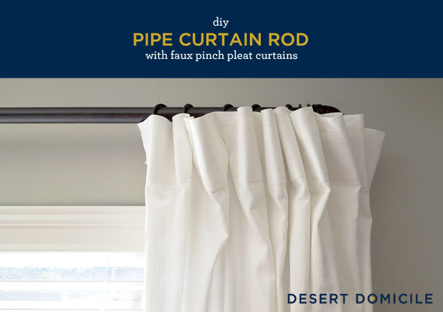 Pipe Curtain Rods Are Super Por Right Now And Very Easy To Make
