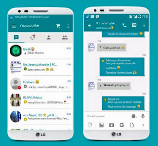 Download BBM Mod Light Teal versi 2.9.0.51 Based Backup Sticker