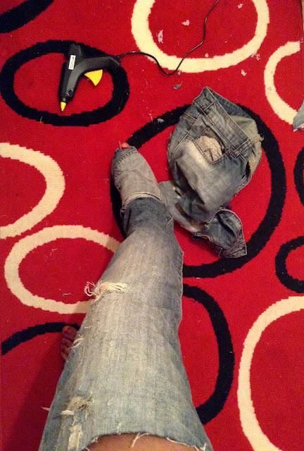 DIY bottes hautes en jeans