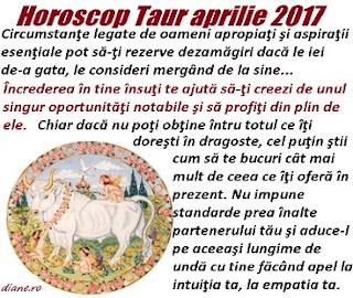 Horoscop aprilie 2017 Taur