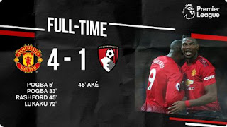 Manchester United vs Bournemouth 4-1 Full Highlights