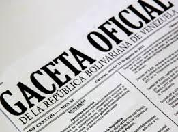 Consulte SUMARIO Gaceta Oficial N° 41.418 13 de junio de 2018