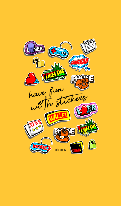 Have fun with stickers