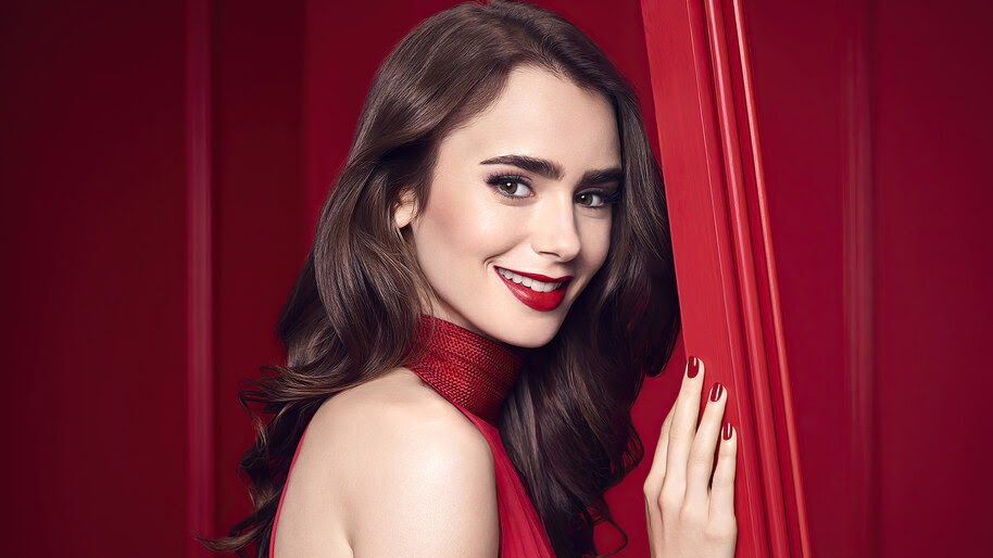 Lily Collins, Beautiful, Smile, 4K, #6.367