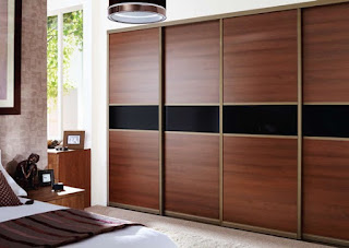 Sliding cloth cabinet doors