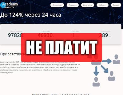 Скриншоты выплат с хайпа academy-investor.biz