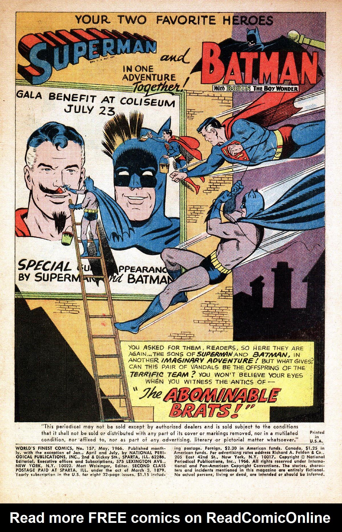 Read online World's Finest Comics comic -  Issue #157 - 3