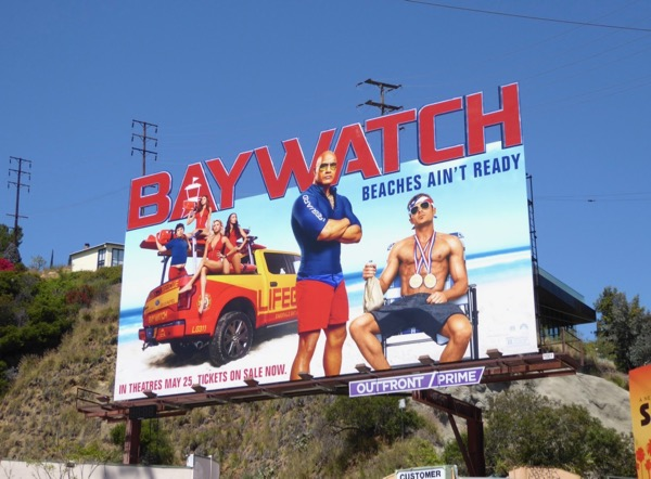 Baywatch movie billboard