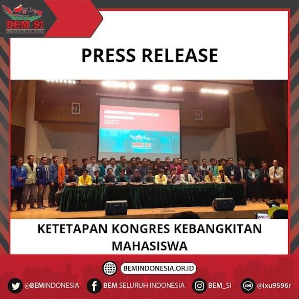 SIKAP RESMI BEM Seluruh Indonesia Terkait PEMILU 2019