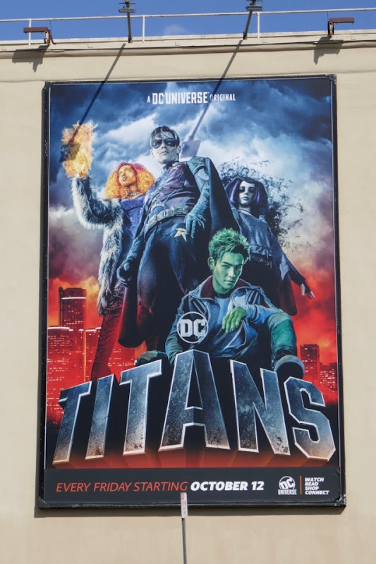 DC Titans series launch billboard