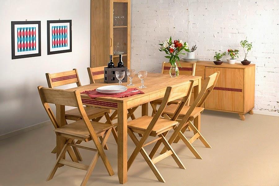 Mesa de Jantar com cadeiras dobráveis