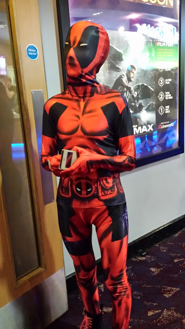 out and about in a deadpool morphsuit cinema