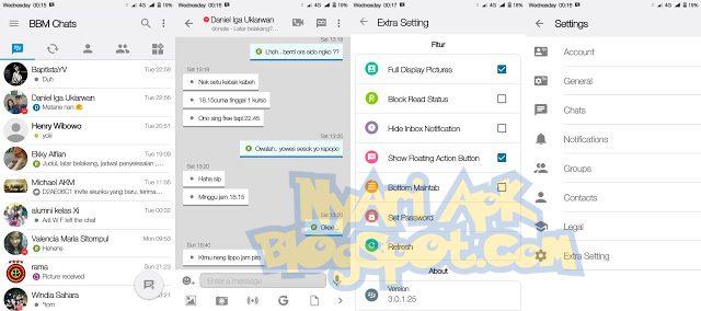 Download BBM Mod iOS Light v11 Versi 3.0.1.25 Apk Terbaru