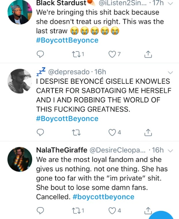 Beyonce Fans 'Beehive' Threatens To Boycott Her - See Why