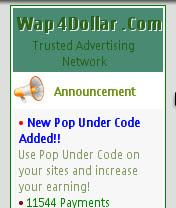 screenshot mwb0058 Cara daftar di Wap4dollar lengkap, PPC terpercaya