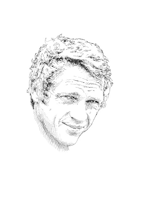 crosshatch sketches Steve McQueen