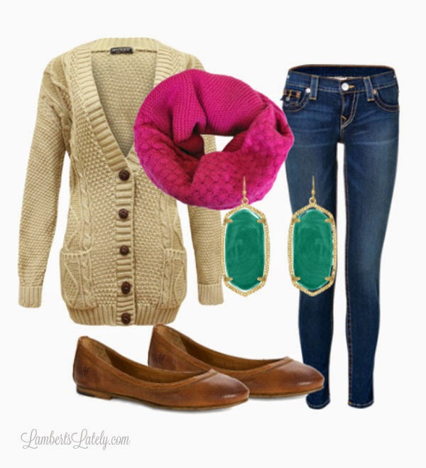 Sweater, Infinity Scarf - Fall Fashion