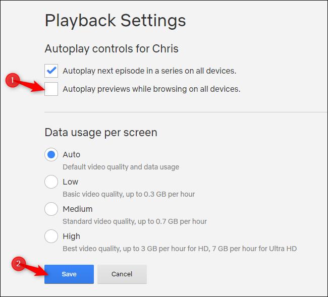 Anteprima automatica durante la navigazione su tutti i dispositivi Netflix