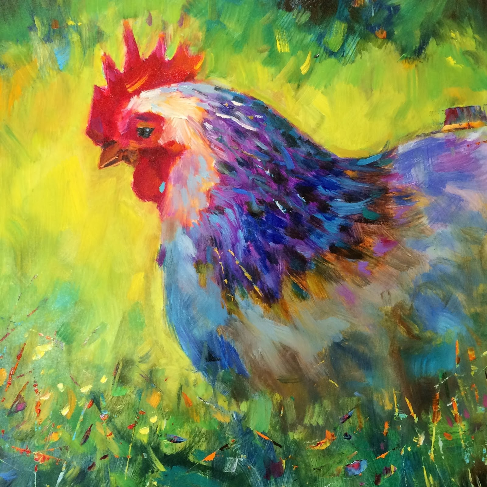Oil painting workshop Chickens 92