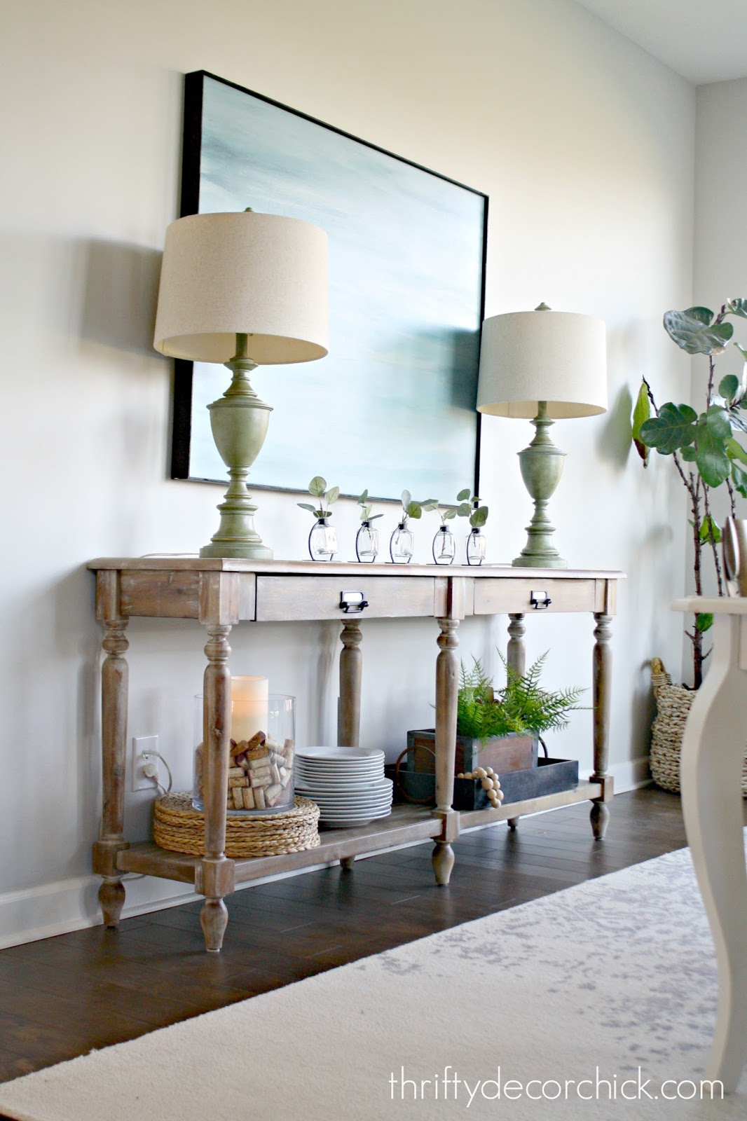 How to hide lamp cords from Thrifty Decor Chick