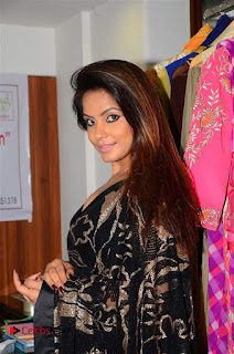 Actress Neetu Chandra Stills in Black Saree at Designer Sandhya Singh's Store Launch  0006.jpg