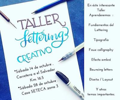 Aprende Lettering Creativo en nuestro interesantísimo Taller