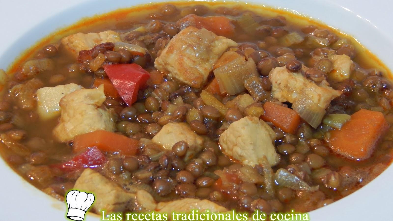 Lentejas con pavo y verduras receta f cil recetas de - Lentejas con costillas y patatas ...