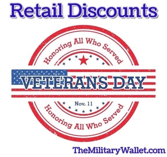 2017 Veterans Day Retail Discounts Special Offers Freebies