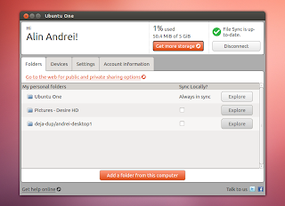 ubuntuone qt interface