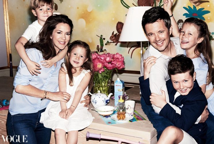 Their Royal Highnesses The Crown Prince and Crown Princess of Denmark cover Vogue Australia's August 2016 issue