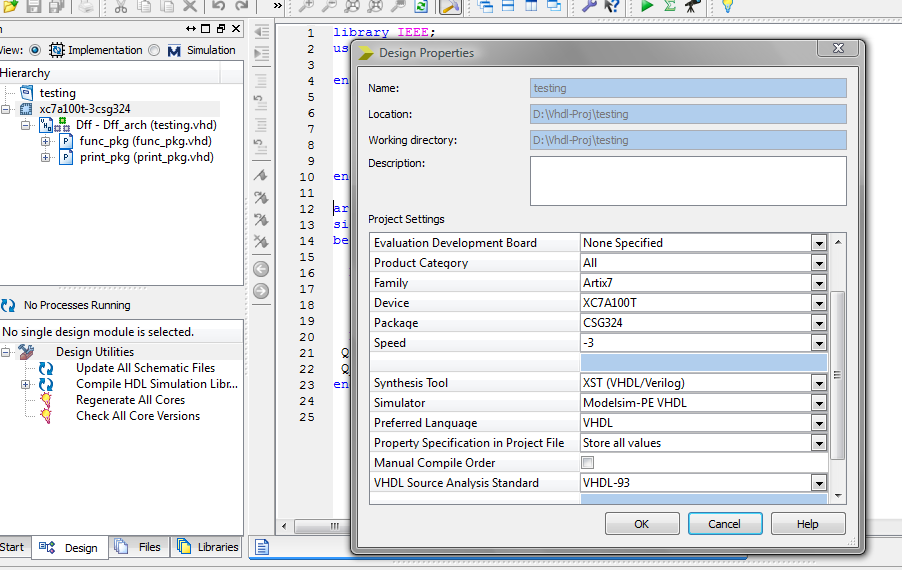 VHDL BLOG: How To Run ModelSim Simulator - Xilinx