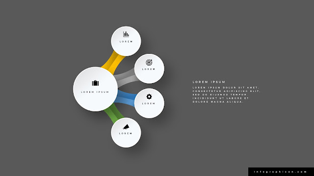 Infographic Organic Circular 4 Banner Options for PowerPoint Type C