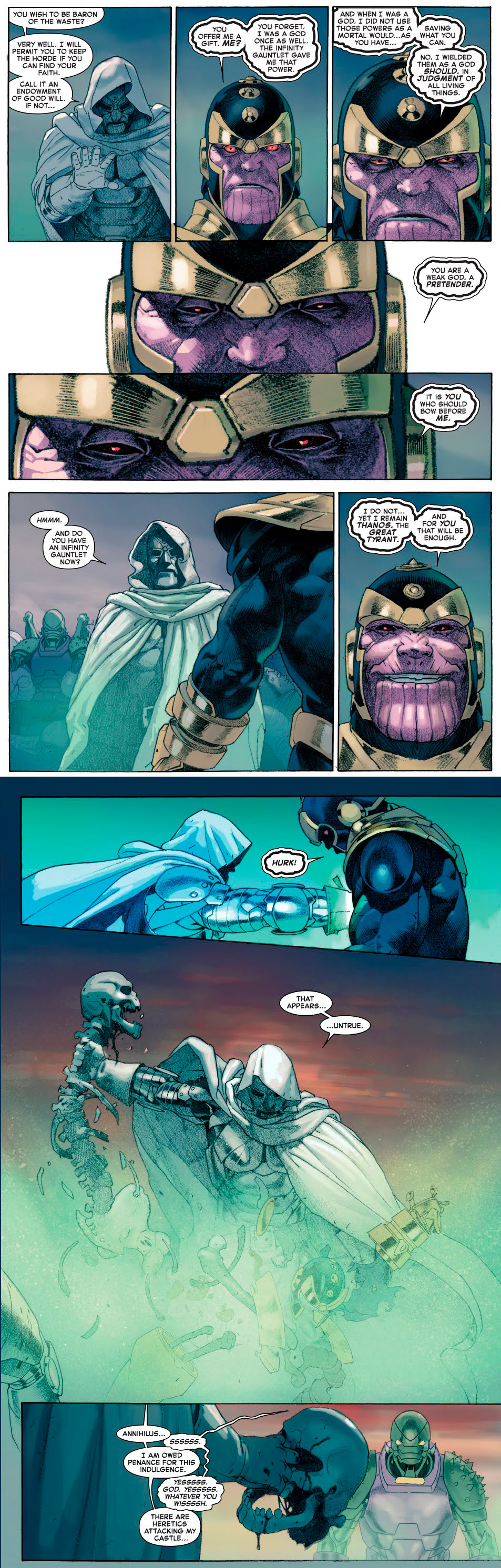 Thanos and Doctor Doom