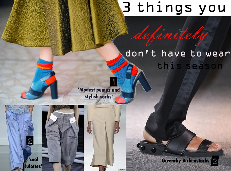 3 things you definitely don't have to wear this season!