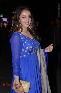 Telugu Actress Tejaswi Madivada Pos in Blue Long Dress at Nanna Nenu Na Boyfriends Audio Launch  0052.JPG