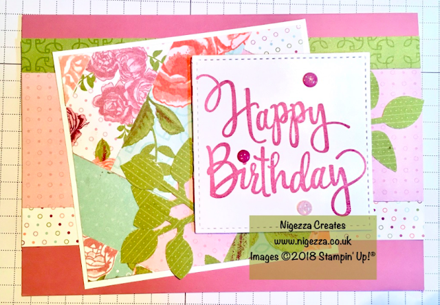 Scraps Challenge Project using Stampin' Up!® Products for #stampinforall