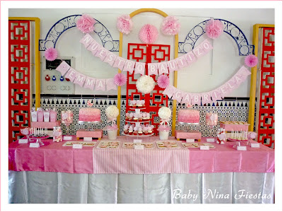 mesa dulce bautizo mellizas