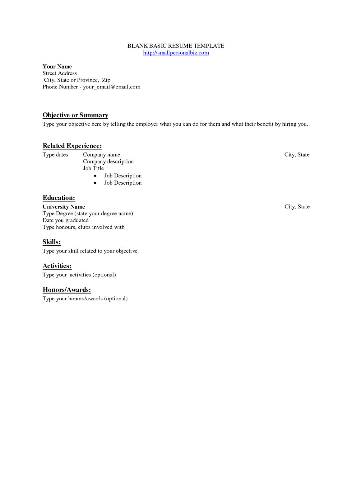 More Printable Resume Templates Resume Template Sample Printable Blank  Throughout    Captivating Blank Resume Template