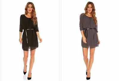 Vestido color negro o gris en oferta