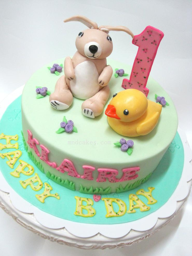 Mom And Daughter Cakes Pastel Colours On Children Birthday