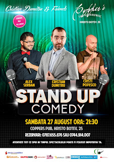 Stand-Up Comedy Sambata 27 August Bucuersti